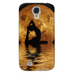 woman on moon background samsung galaxy s4 case