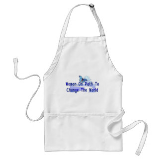 Woman On Path Adult Apron