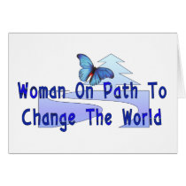Woman On Path Card