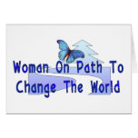 Woman On Path Greeting Card