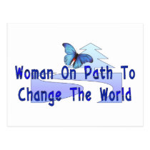 Woman On Path Postcard