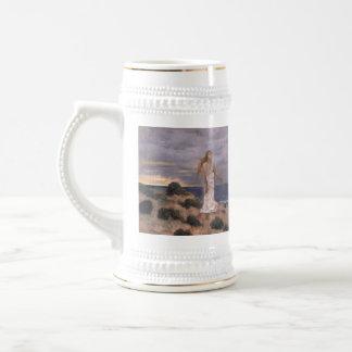 Woman on the Beach - Pierre Puvis de Chavannes Beer Stein