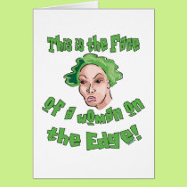 Woman on the Edge Card