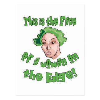 Woman on the Edge Postcard