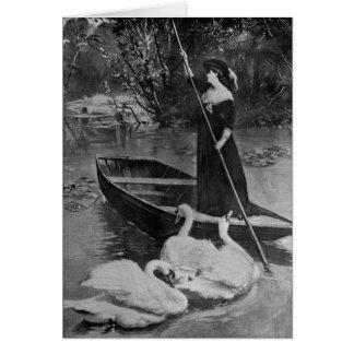 Woman on the Lake Card