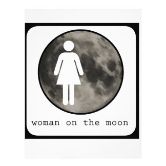 Woman On The Moon Graphic Letterhead Template