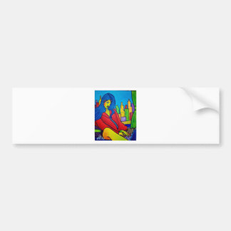 Woman Online Bumper Sticker