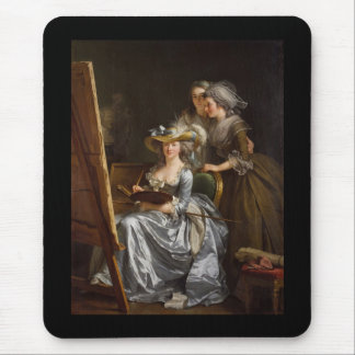 Woman Painter with Her Friends Mouse Pad