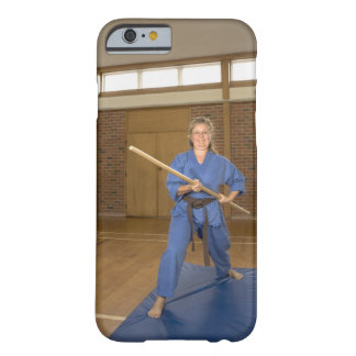 Woman performing Ken-Do-Kai Karate, smiling, Barely There iPhone 6 Case