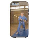 Woman performing Ken-Do-Kai Karate, smiling, iPhone 6 Case