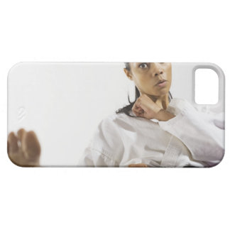 Woman performing martial arts 2 iPhone SE/5/5s case