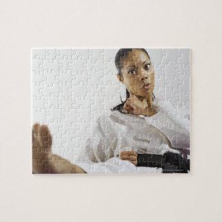 Woman performing martial arts 2 puzzle