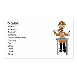 Woman Pet Groomer Business Card Template