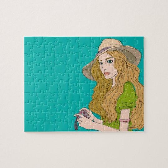 Woman Photographer Jigsaw Puzzle