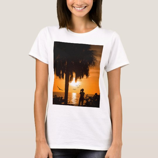 Woman Photographing The Sunset T-Shirt