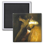 Woman Playing Cello 2 Inch Square Magnet