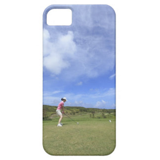 Woman playing golf iPhone 5 cases