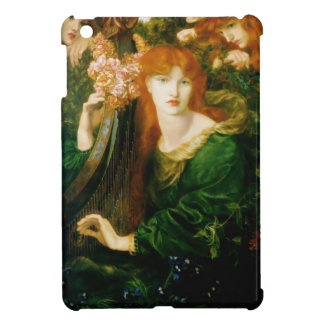 Woman Playing Harp Painting Case For The iPad Mini