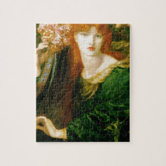 Woman Playing Harp Painting Jigsaw Puzzles