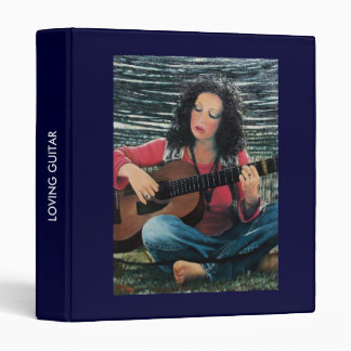 Woman Playing Music With Acoustic Guitar Binder