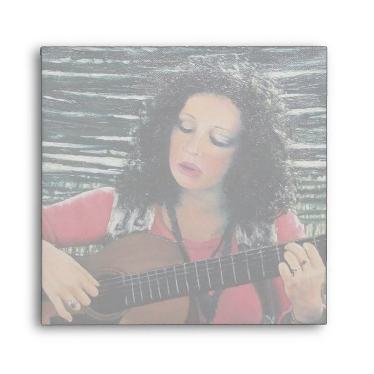 Woman Playing Music With Acoustic Guitar Envelope