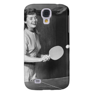 Woman Playing Table Tennis Samsung Galaxy S4 Case