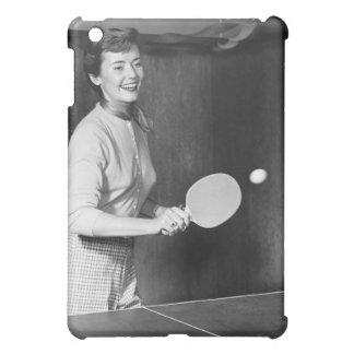 Woman Playing Table Tennis iPad Mini Cover