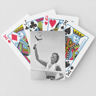 Woman Playing Tennis 2 Bicycle Playing Cards