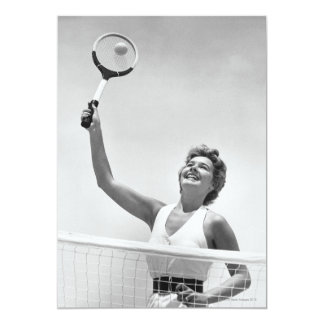 Woman Playing Tennis 2 5x7 Paper Invitation Card