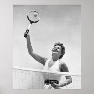 Woman Playing Tennis 2 Poster