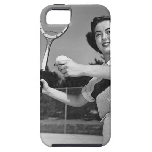Woman Playing Tennis 3 iPhone 5 Cover