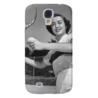 Woman Playing Tennis 3 Samsung Galaxy S4 Case