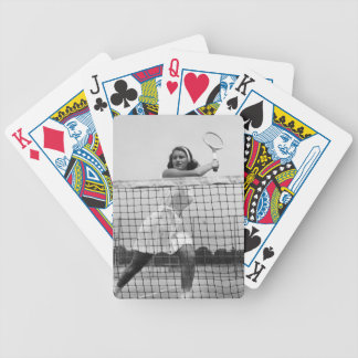 Woman Playing Tennis Bicycle Playing Cards