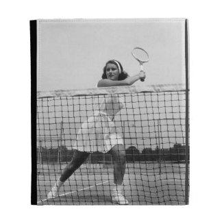 Woman Playing Tennis iPad Folio Cases