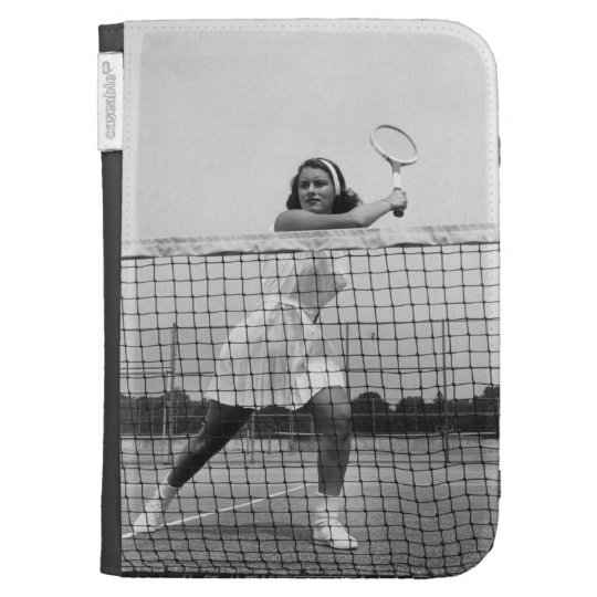 Woman Playing Tennis Cases For Kindle