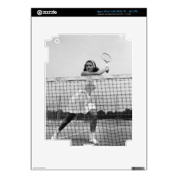 Woman Playing Tennis iPad 3 Decals