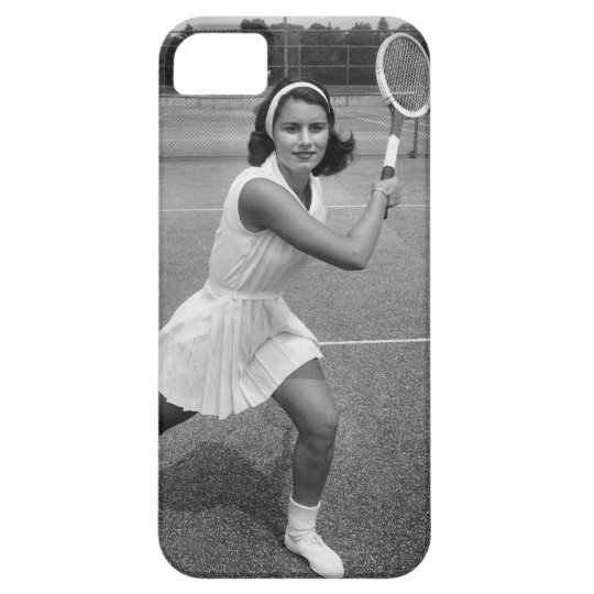 Woman playing tennis iPhone SE/5/5s case