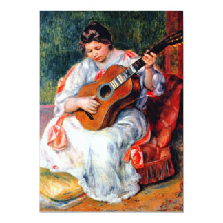 Woman Playing The Guitar by Pierre Renoir Card