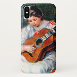 Woman Playing The Guitar by Pierre Renoir iPhone X Case