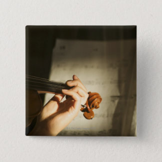 Woman Playing Violin Button