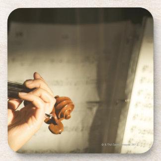Woman Playing Violin Coaster