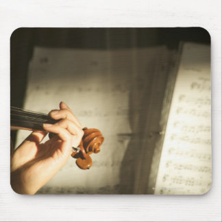 Woman Playing Violin Mouse Pad