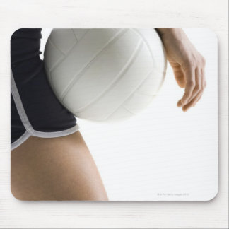 woman playing volleyball mouse pad