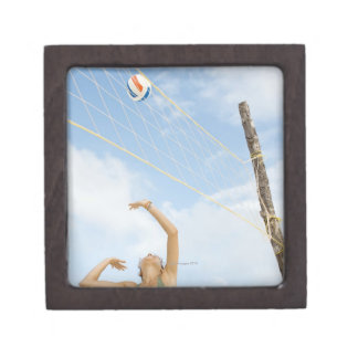 Woman playing volleyball outdoors premium gift box