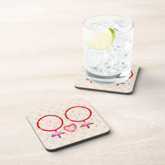 Woman Plus Woman Coaster