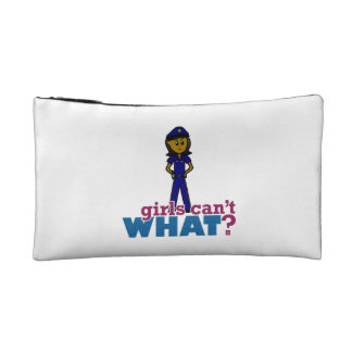 Woman Police Officer Cosmetic Bag