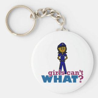 Woman Police Officer Keychain