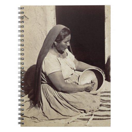 Woman Polishing Pottery - 1879 Spiral Note Books