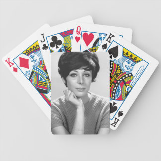 Woman Posing Bicycle Playing Cards