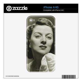 Woman Posing in Studio 2 Decals For The iPhone 4